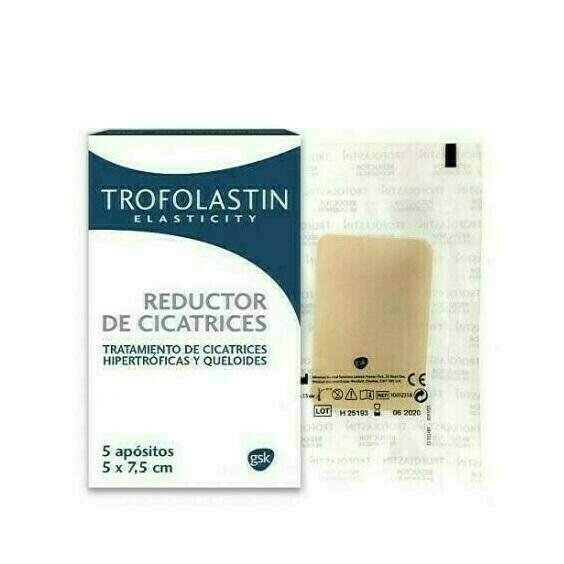 TROFOLASTIN REDUCTOR DE CICATRICES 5 X 7,5 CM 5 U