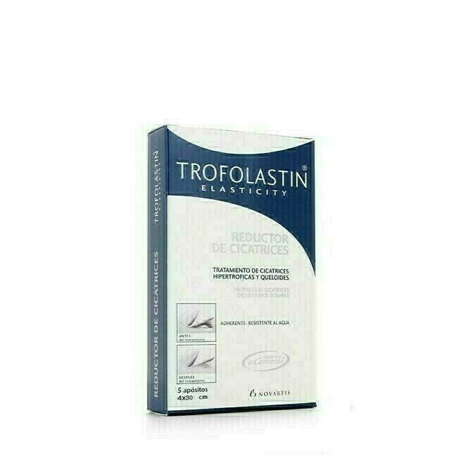 TROFOLASTIN REDUCTOR DE CICATRICES 4 X 30 CM 5 U