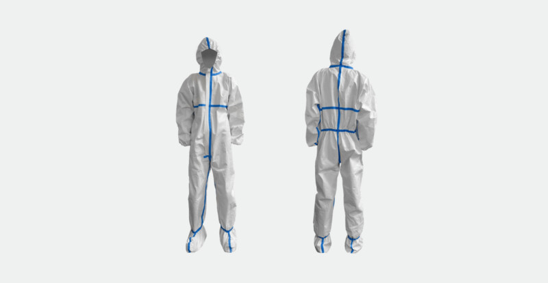 Protective Clothing with Shoe Cover