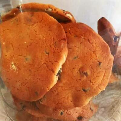 Cookies au chocolat/amandes/noisettes et miel