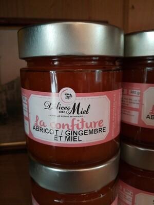 Confiture d'abricot au miel et gingembre