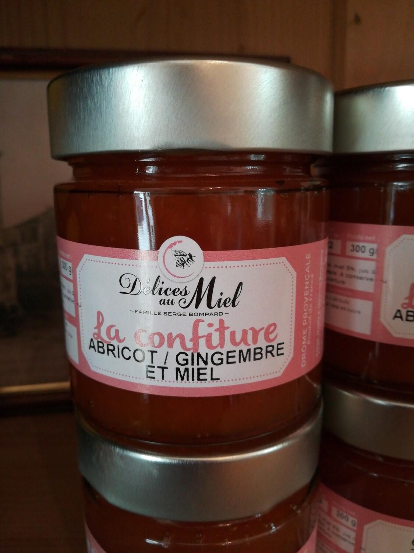 Confiture d'abricot et gingembre au miel