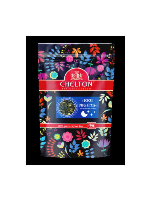 """Chelton / Black and green leaf tea with natural additives """"1001 nights"""", 90 gr., Zip package"""