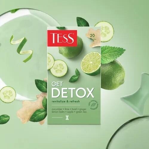 Чай зеленый TESS Get Detox с добавлением чая оолонг байховый, 20пак
