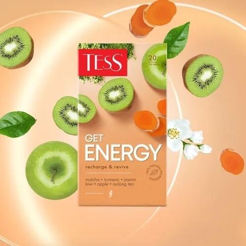 Чай зеленый Get ENERGY Recharge & Revive от TESS, 20 пак.