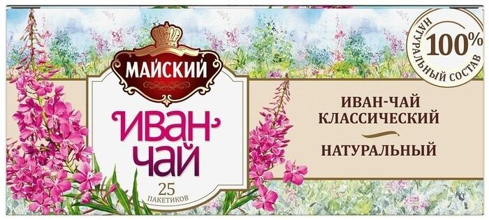 Herbal tea Mayskiy Ivan-tea classic 25pak