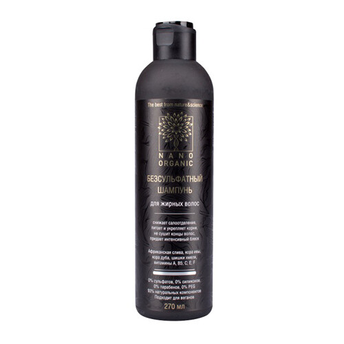 Nano Organic / Sulfate-Free Shampoo for Oily Hair, 270 ml