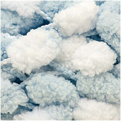 Rico Pompon - Blue and White
