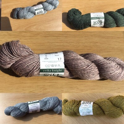 Erika Knight Wild Wool 5 x 100g pack.