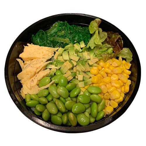 Poke avocado / omelet