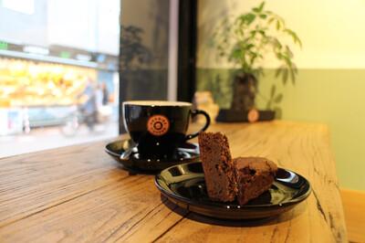 Brownies  gluten en lactose vrij, 4 stuks (bevroren)