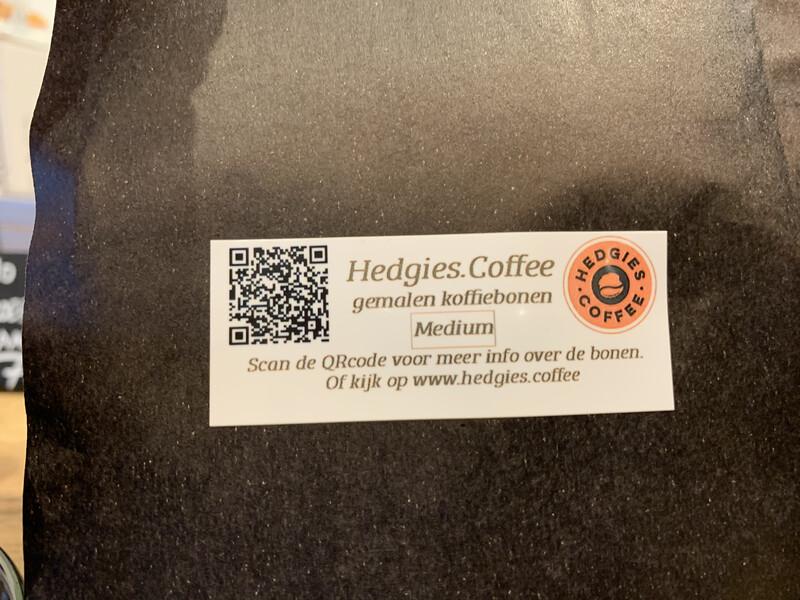 Hedgies.Beans DARK gemalen koffie 200gram