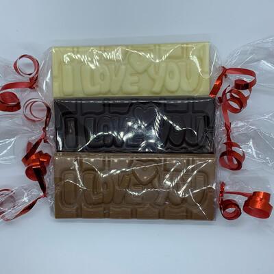 Hedgies.Chocolate met tekst