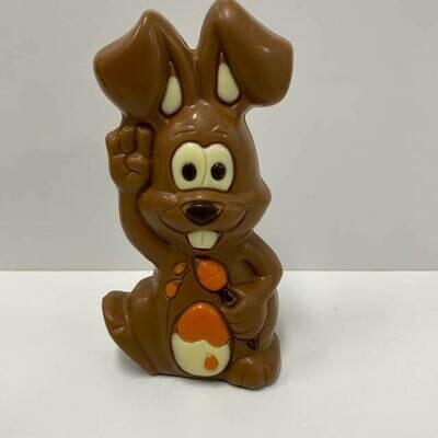 Hedgies.Chocolate Paashaas - met kwast