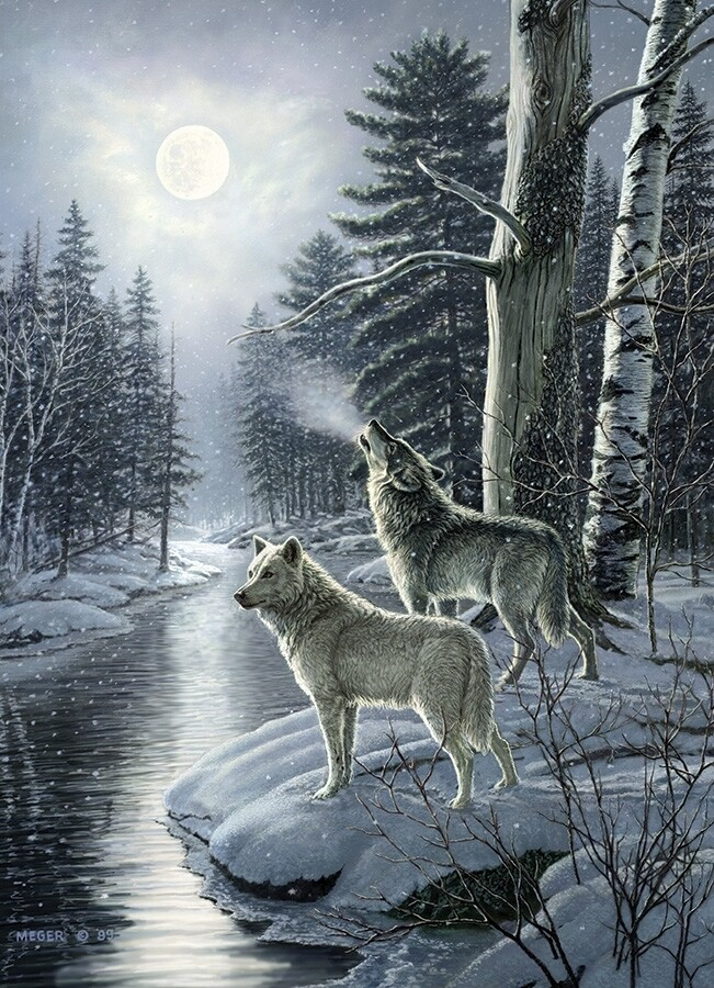 Wolves by Moonlight - 1000 Piece Cobble Hill Puzzle