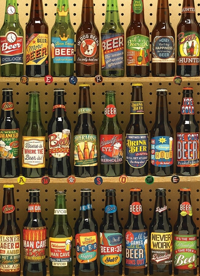 Beer Collection - 1000 Piece Cobble Hill Puzzle