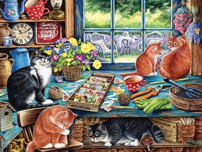 Cats Retreat -275 piece Easy Handling - Cobble Hill Puzzle