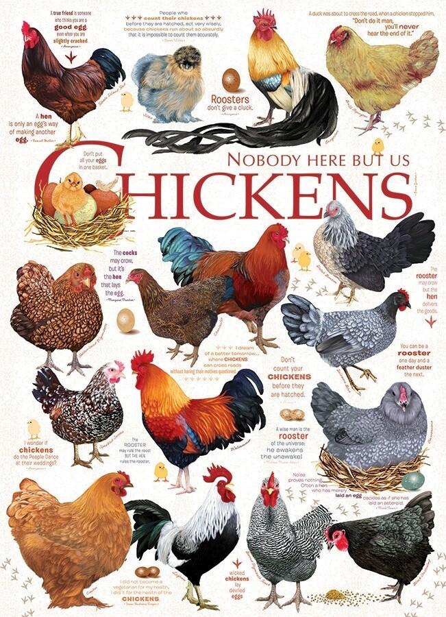 Chicken Quotes - 1000 Piece Cobble Hill Puzzle