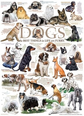 Dog Quotes - 1000 Piece Cobble Hill Puzzle