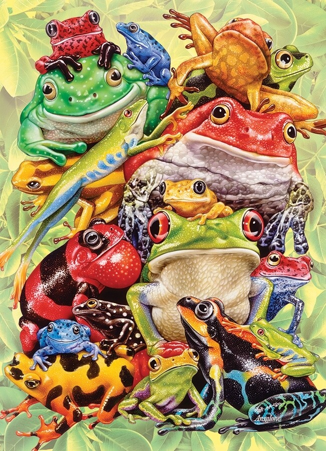 Frog Pile Family Pieces - 350 piece Cobble Hill Puzzle