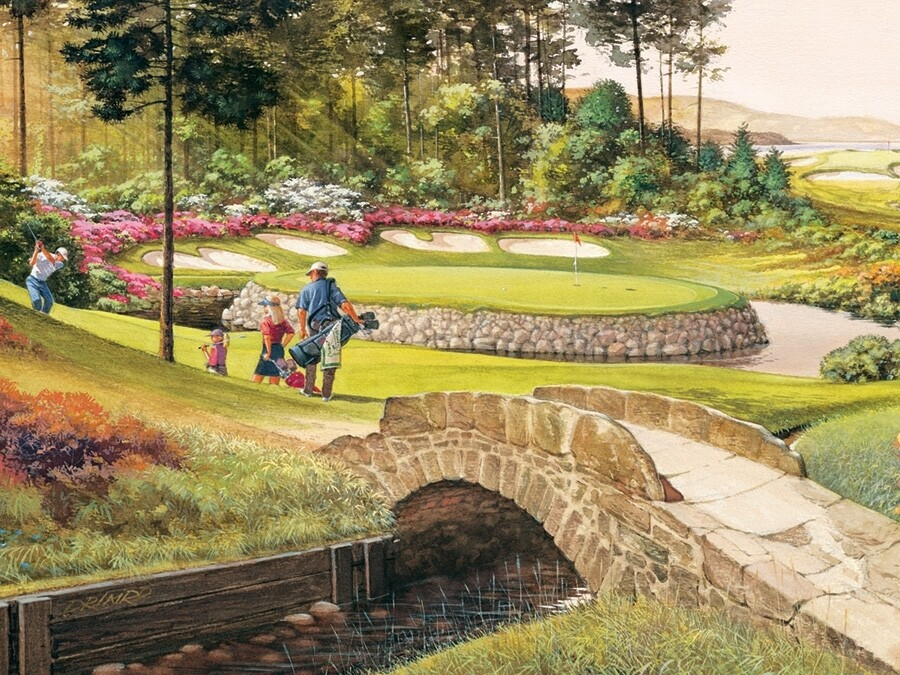 Golf Course - 275 piece Easy Handling  Cobble Hill Puzzle
