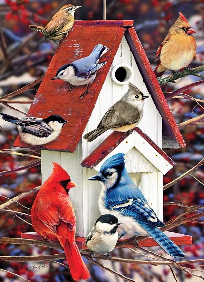 Winter Birdhouse - 1000 Piece Cobble Hill Puzzle