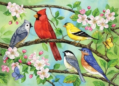 Bloomin' Birds Family Pieces - 350 piece Puzzle Cobble Hill Puzzle