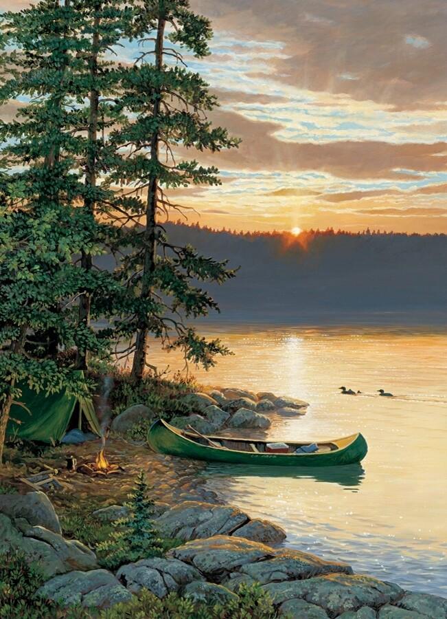 Canoe Lake - 1000 Piece Cobble Hill Puzzle