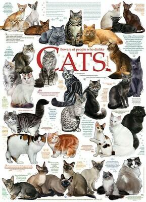 Cat Quotes - 1000 Piece Cobble Hill Puzzle