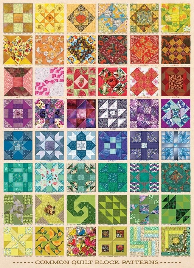 Common Quilt Blocks - 1000 Piece Cobble Hill Puzzle