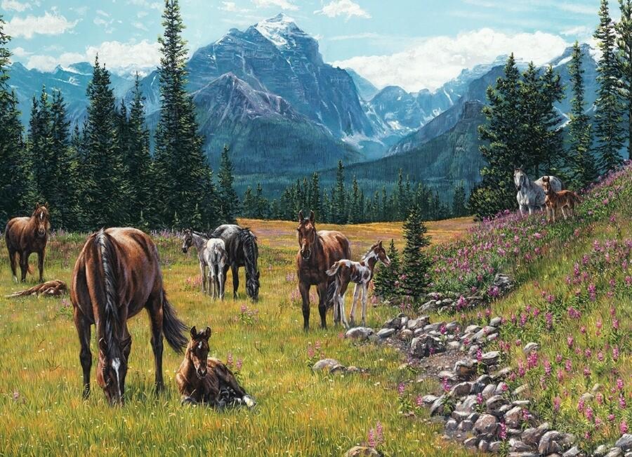 Horse Meadow - 1000 Piece Cobble Hill Puzzle