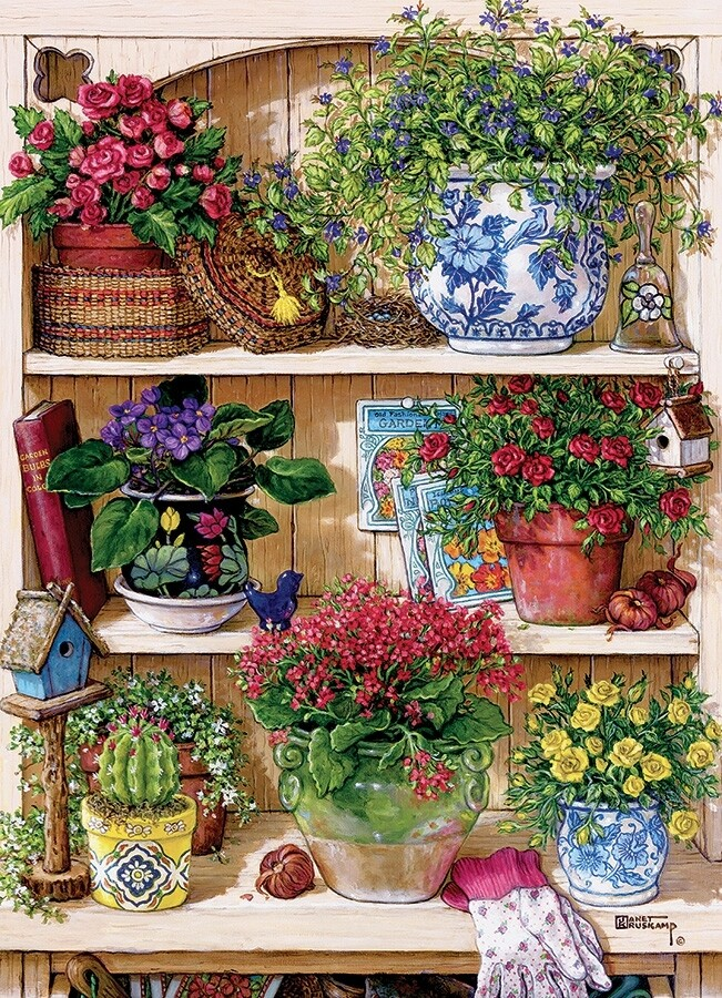 Flower Cupboard - 500 Piece Cobble Hill Puzzle