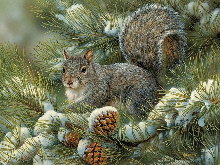 Gray Squirrel - 275 piece Easy Handling Cobble Hill Puzzle