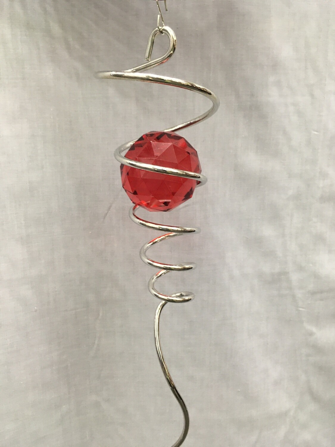 Spiral Tail with Red crystal - 10 inch