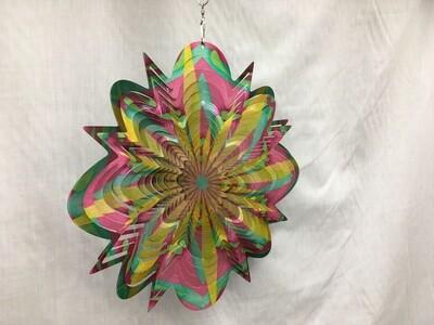 Floral Splash Mandala Large - Wind Spinner