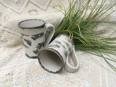 Large Mug, Birch Bark - Pavlo Pottery - Canadian Handmade