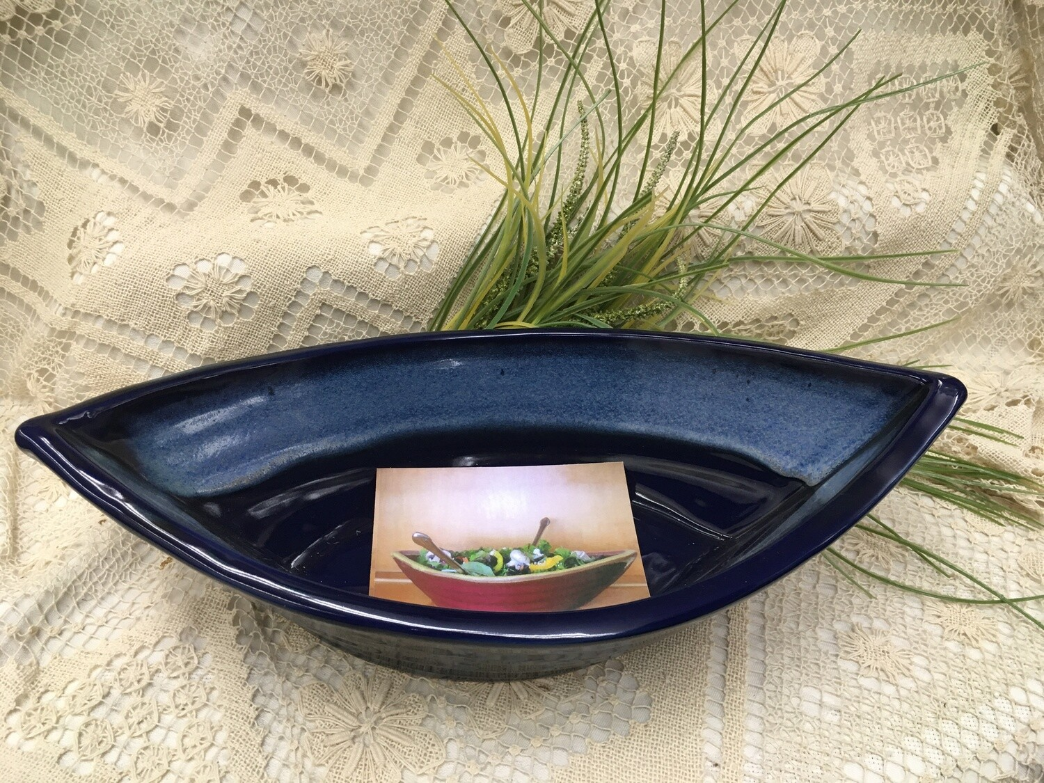 Dory Bowl Northern Lights Blue - Maxwell Pottery - Canadian Handmade