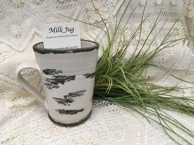 Milk Jug, Birch Bark - Pavlo Pottery - Canadian Handmade