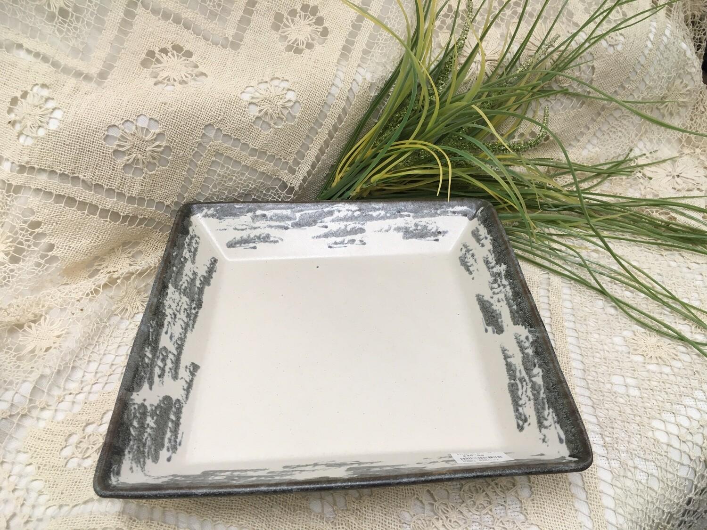 Square Tray, Birch Bark - 10 inch - Pavlo Pottery - Canadian Handmade