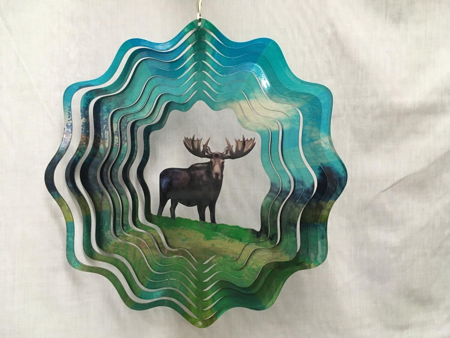 Moose Large - Cut Out Design Wind Spinner