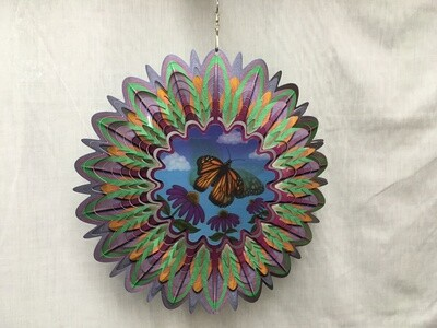Monarch Butterfly Large - Animated Wind Spinner