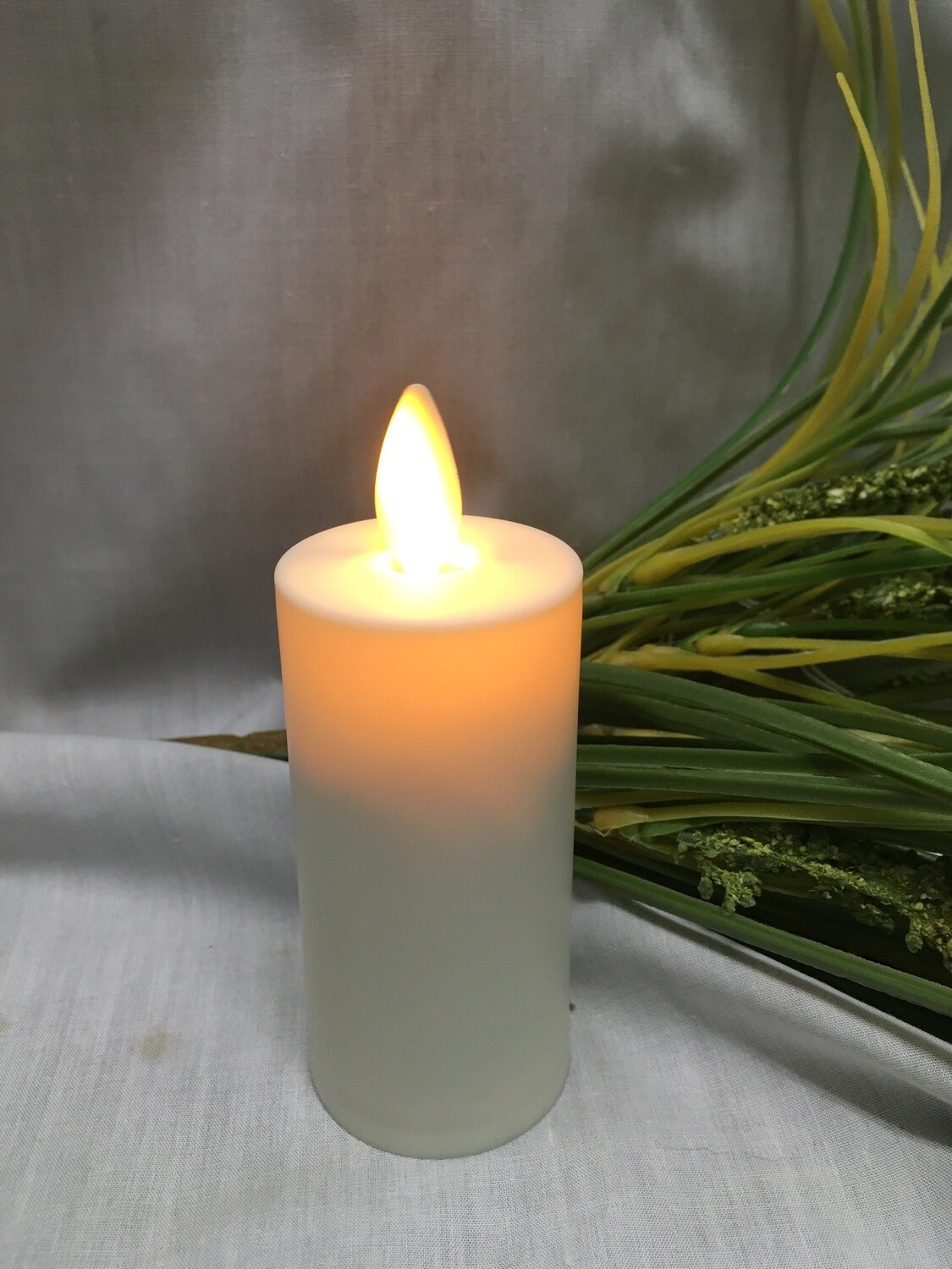 Ivory - Reallite Flameless Votive Candle with Timer - 1.5x3 inches - moving flame
