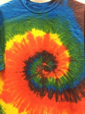 Classic Twist Bright Rainbow - Tie Dye T-shirt - Size EXTRA LARGE