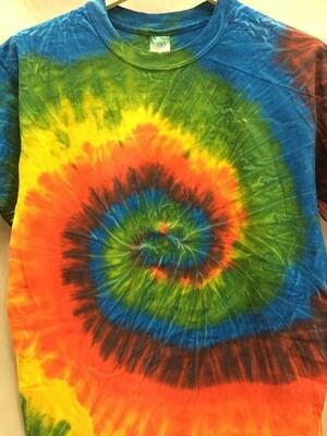 Classic Twist Bright Rainbow - Tie Dye T-shirt - Size MEDIUM