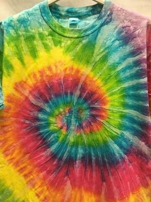 Classic Twist Mottled Pastel Rainbow - Tie Dye T-shirt - Size LARGE