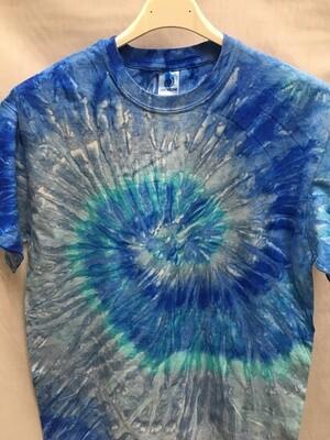 Classic Twist Blue - Tie Dye T-shirt - Size MEDIUM