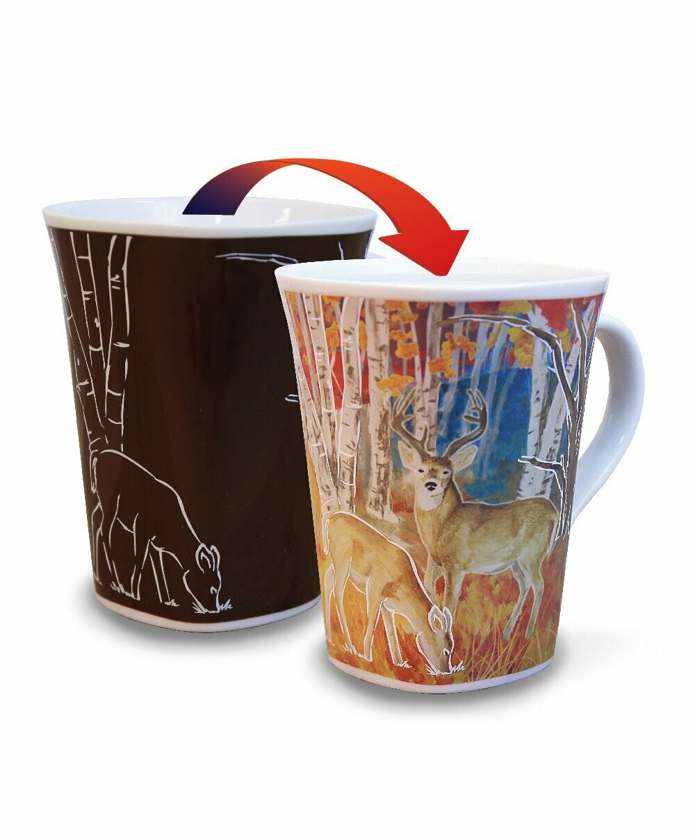 Deer Colour Changing Mug  - Canadian Images Wildlife Edition