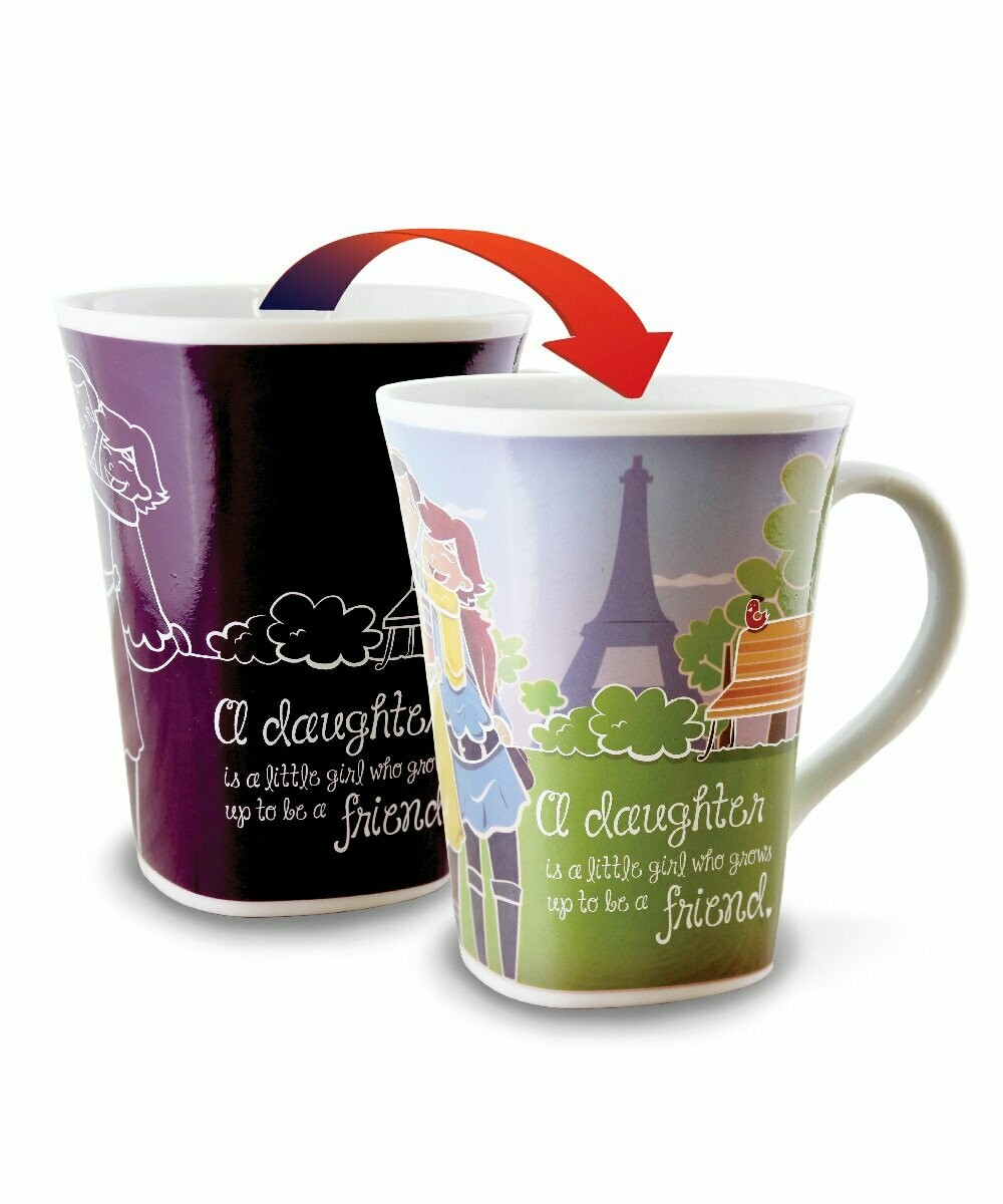 Daughter Colour Changing Mug - A Daughter is a little girl who grows up to be a friend