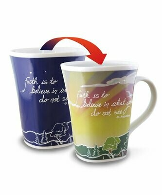 Faith Colour Changing Mug  - Faith is to believe in what you do not see