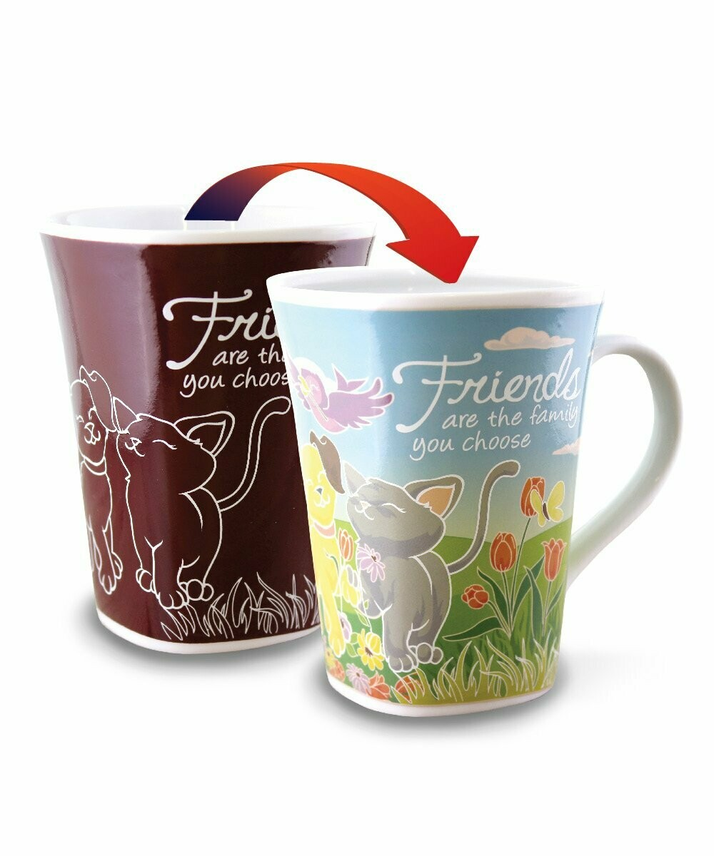 Friend Colour Changing Mug - Friends are the family you choose